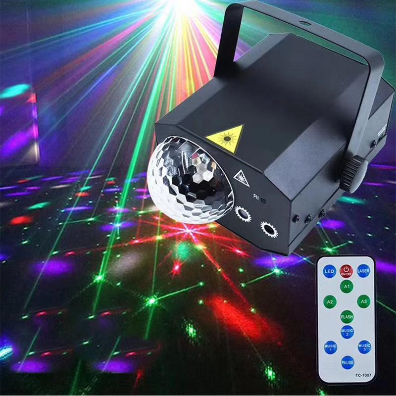 16 modèles scène projecteur Laser boule magique Disco effet d'éclairage fête mariage anniversaire vacances eau vague lumières avec télécommande