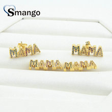 5Pairs, Women Fashion Jewelry,The Rainbow Series,The Letter MAMA  Earrings.GoldColors,Can Wholesale