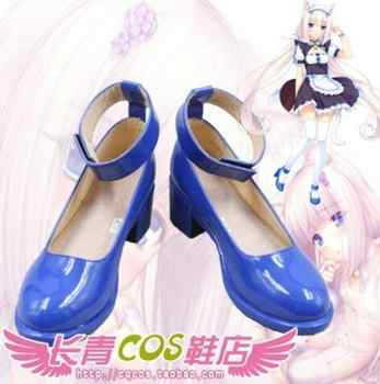 Womens NEKOPARA Chocola Vanilla Maid cosplay costume boots girls sailor moon lolita punk school sign shoes - DISCOUNT ITEM  6% OFF All Category
