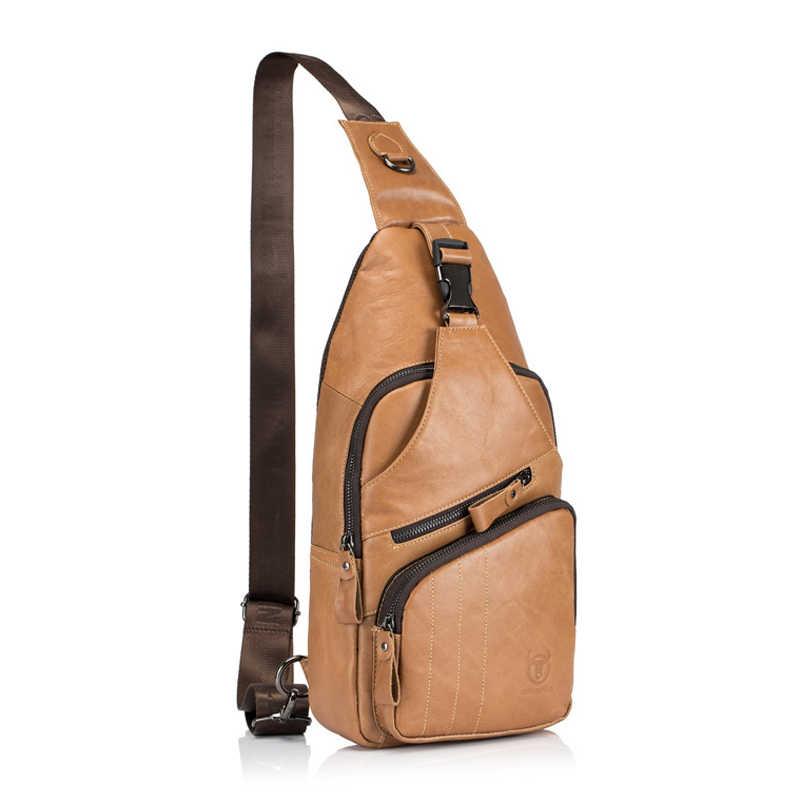 BULLCAPTAIN dos homens saco masculino Saco de Ombro Da Forma do Couro Genuíno Grande modelo pequeno mensageiro saco ocasional das mulheres 105 L