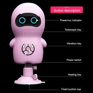 Image 3 - リモート自動加熱された伸縮女性のためのバイブレーターディルド格納式ペニスバイブレーター女性のオナニー大人の大人のおもちゃ