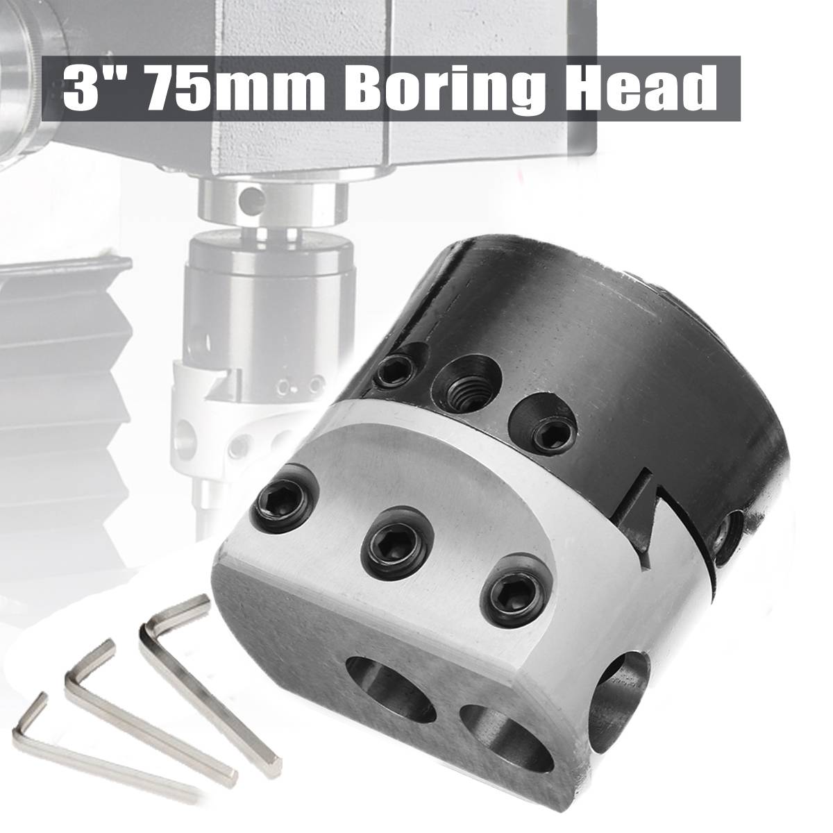 High Quality 3 75mm Boring Head Milling Tool with 3pcs Wrench For 18mm Hole Boring CutterHigh Quality 3 75mm Boring Head Milling Tool with 3pcs Wrench For 18mm Hole Boring Cutter