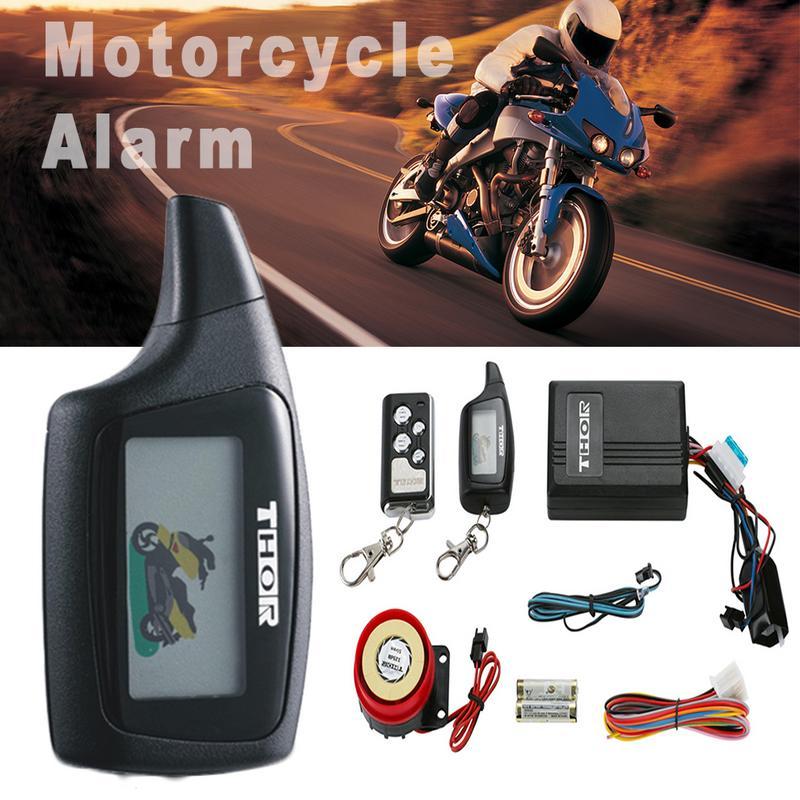 Moto 2 voies système de sécurité alarme sans clé télécommande verrouillage système d'alarme Anti-vol capteur de Vibration alarme sonore