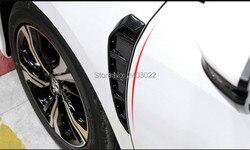 Car Side Marker Air Flow Cover Fender Flare Air Wing Vent Decoration for HondA Civic Sedan/Coupe/Hatchback 2016-present