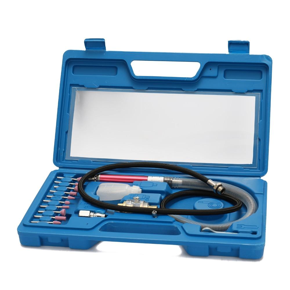 16pcs High Speed Air Micro Die Grinder Kits Mini Pencil Polishing Engraving Tool Professional Grinding Cutting Pneumatic Tools-in Pneumatic Tools from Tools