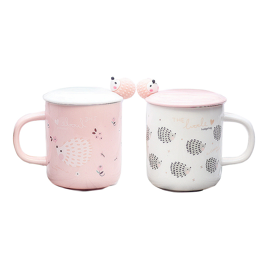 Cartoon ceramic cups and mugs Cute animal pattern coffee mug creative beer cup good gift for friends and couples a cup drinkware