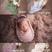 Newborn Photoprops Swaddling Baby Bedding Cotton Wrapped Blanket Baby Shooting P