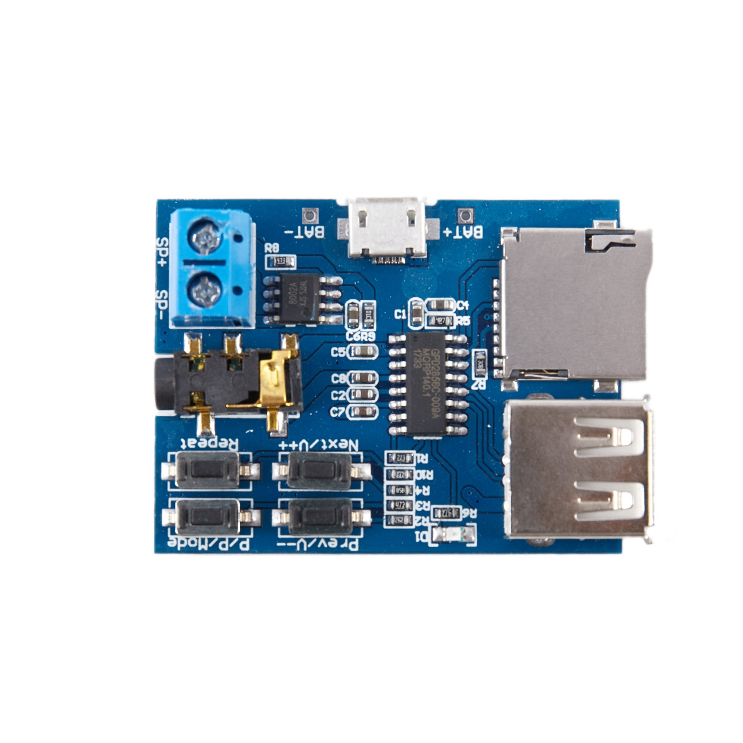 Mp3 lossless decoder board comes with amplifier mp3 decoder TF card U disk decoder player