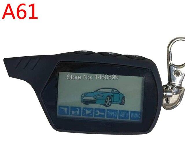 2-способ A61 ЖК-дисплей удаленного Управление брелок для ключей для российских Anti-theft StarLine A61 брелок двухстороннее автомобиль сигнализация