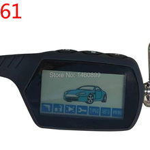 2-way A61 LCD Remote Control Key Chain Fob for Russian Anti-theft StarLine A61 Keychain two way