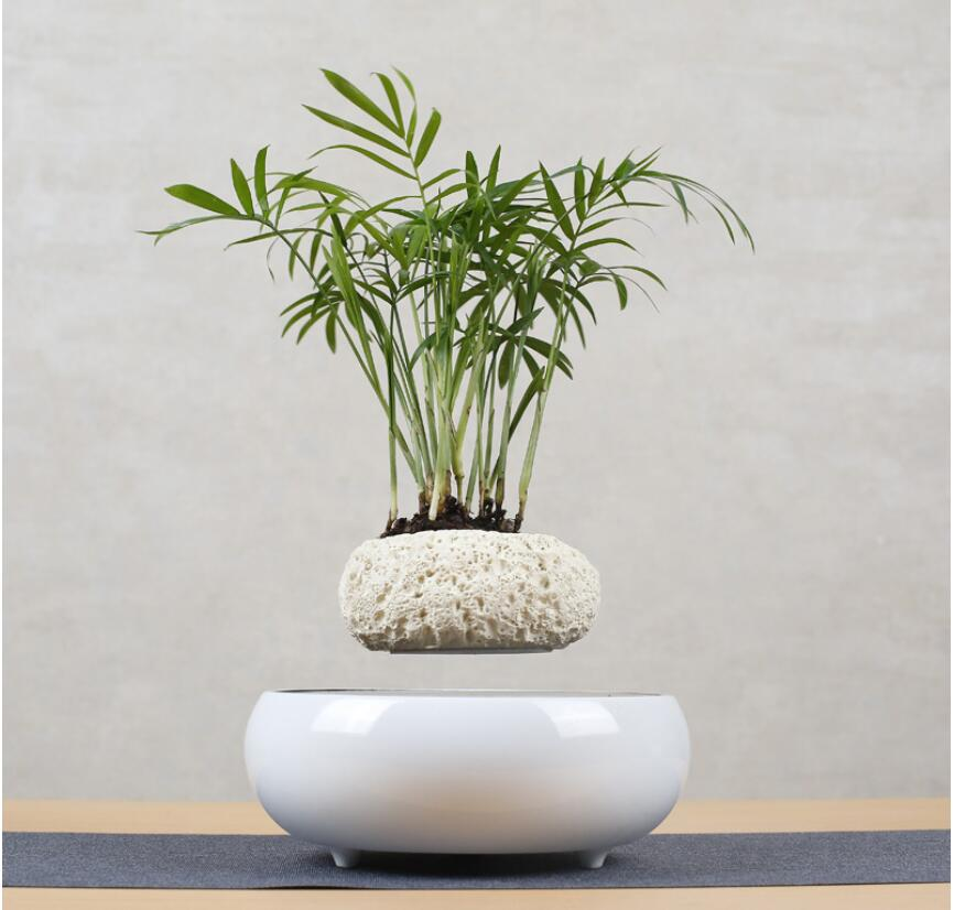 Ceramic Hanging Levitating Flower Pot Bonsai Decorate Balcony Mini