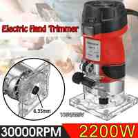 2200W Electric Hand Trimmer 220V/110V Wood Laminator Router 6.35mm Trimming Carving Milling Machine Woodworking Power Tools