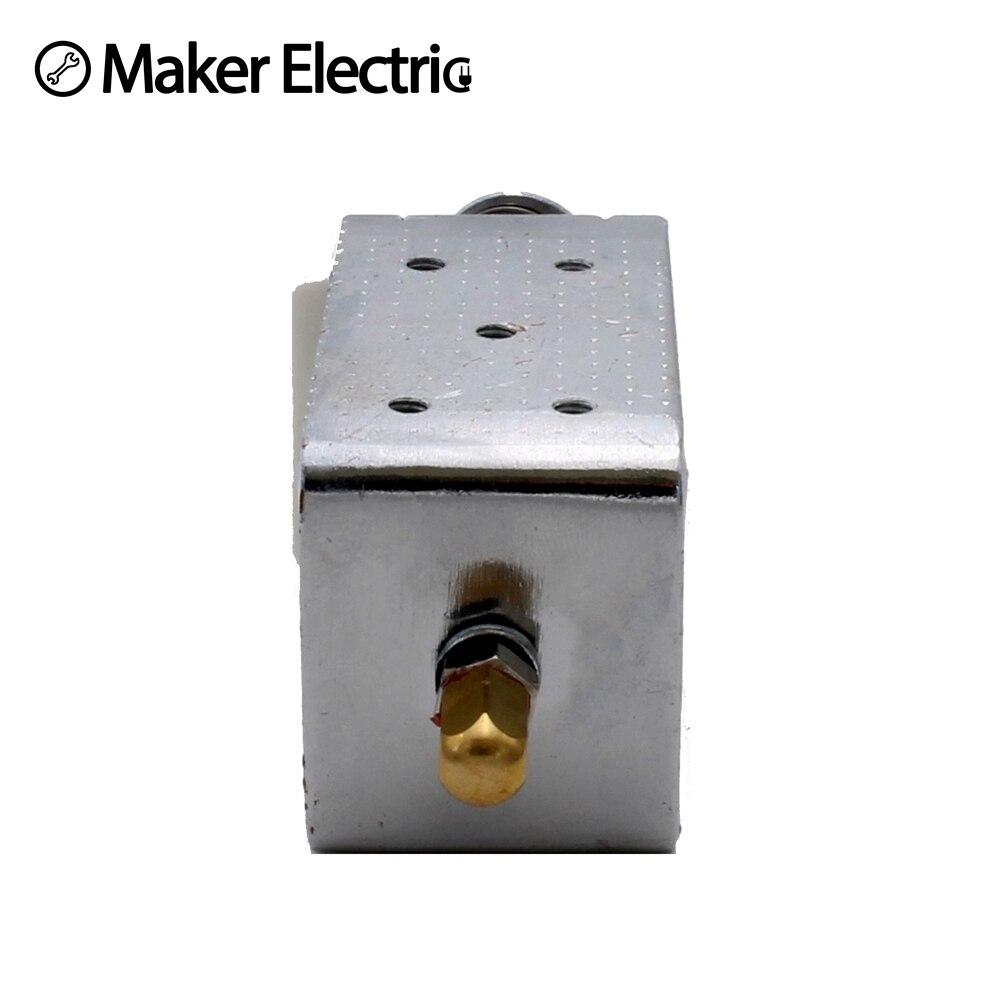 Купить с кэшбэком Terminal connecting Open frame electromagnet door lock Force 15N travel distance 30mm Lock Type Linear Solenoid