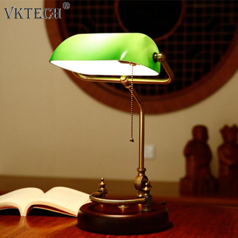 American Retro Solid Wood Desk Lamp Study Table Work Read Bedroom Bedside Table Lamp with Light Source US PlugAmerican Retro Solid Wood Desk Lamp Study Table Work Read Bedroom Bedside Table Lamp with Light Source US Plug