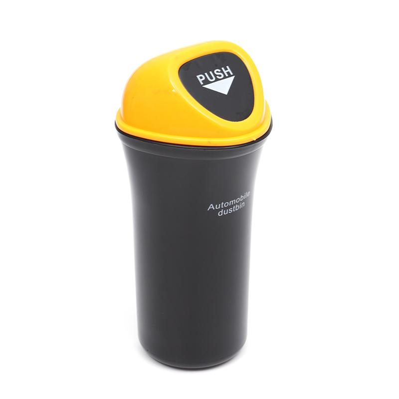 VORCOOL Portable Car Trash Can Leakproof Vehicle Trash Bin Garbage Can Yellow