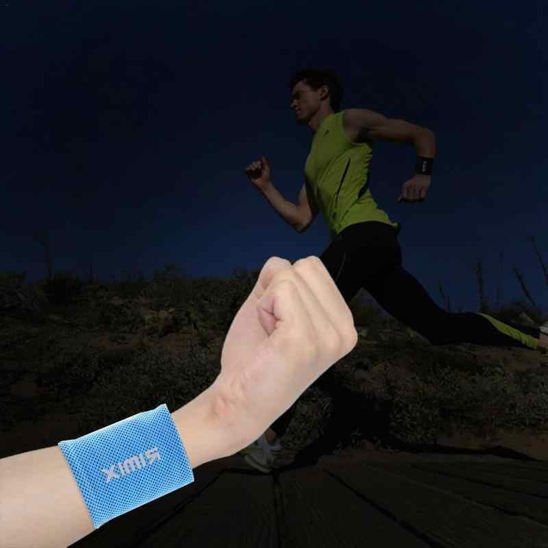 Fajna opaska sportowa na nadgarstek Bracers Arm opaska przeciw poceniu się oddychająca siłownia opaska na nadgarstek wsparcie nadgarstka Protector dla jogi Fitness bieganie tenis