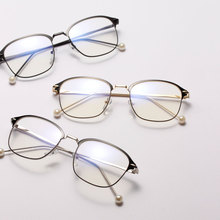 цена на 2019 Noenname_null New Women Alloy Women's Myopic Spectacles Frame, Pearl Glasses, Metal Box Decorative Glasses Special Offer