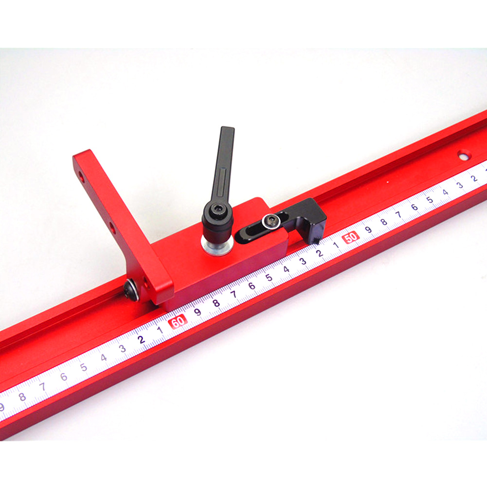Durable Woodworking Tool Aluminum Alloy Accurate T-Track For Sliding Chute Length Limit Miter Track Stop Easy Operate