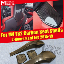M4 F82 Seat Back Shells For BMW 2-doors Hard top 420i 430i 435i 440i Carbon Gloss black Interior 2015-19