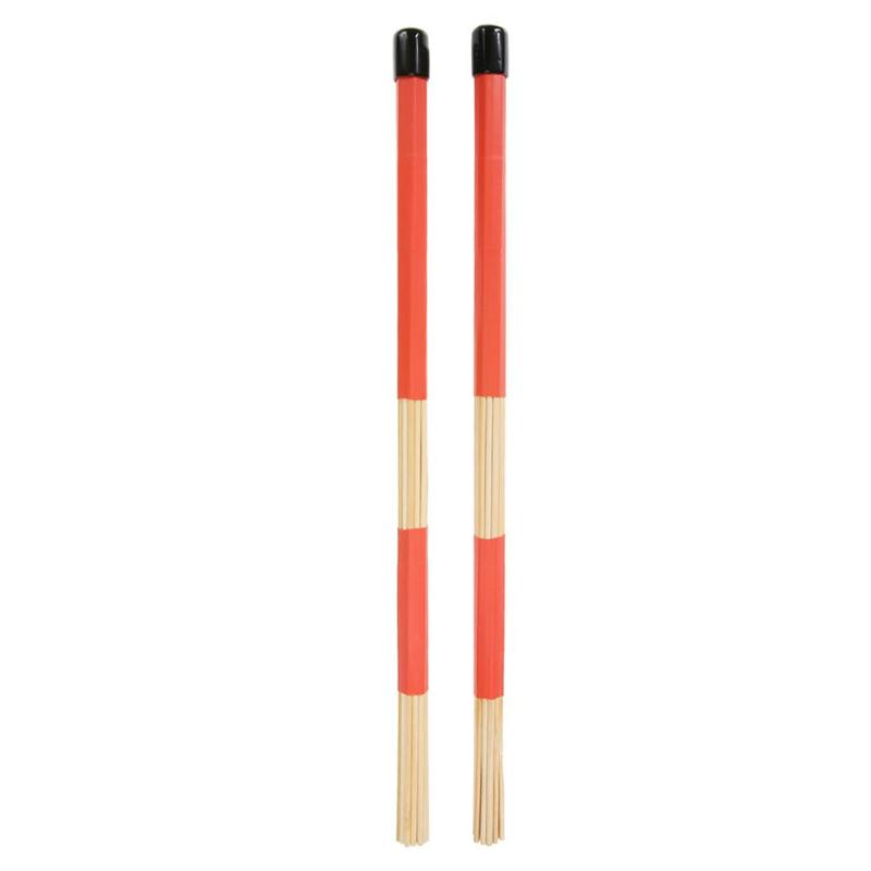 1 Pair 40.5cm Drum Sticks Professional Bamboo Country Jazz Ballad Percussion Drum Brushes Bundle Drum Sticks With Rubber Handle