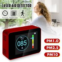 Portable Digital Air Quality Monitor Laser PM1.0 PM2.5 PM10 Detector Home Office Car Gas Analyzer Air Quality LCD Tester Meter