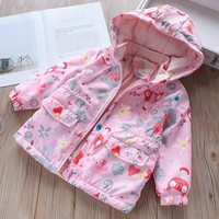 spring autumn girl jackets girls outerwear coats pink fleece kids jacket casual toddler baby outfit fashion children clothes