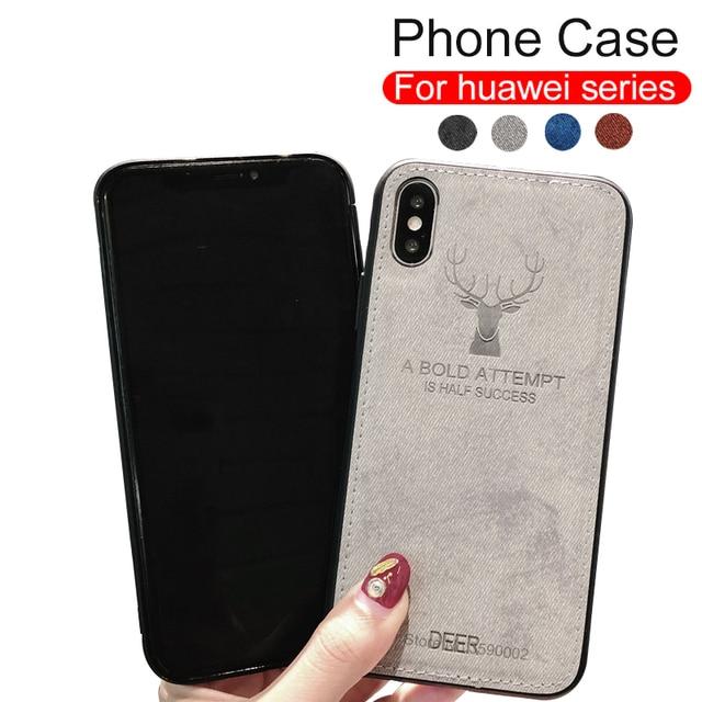 Funda del teléfono para Huawei p20 pro Honor 8x9 Nota 10 9i amigo 20 lite nova 3 3i p smart funda trasera suave de tela de borde de silicona