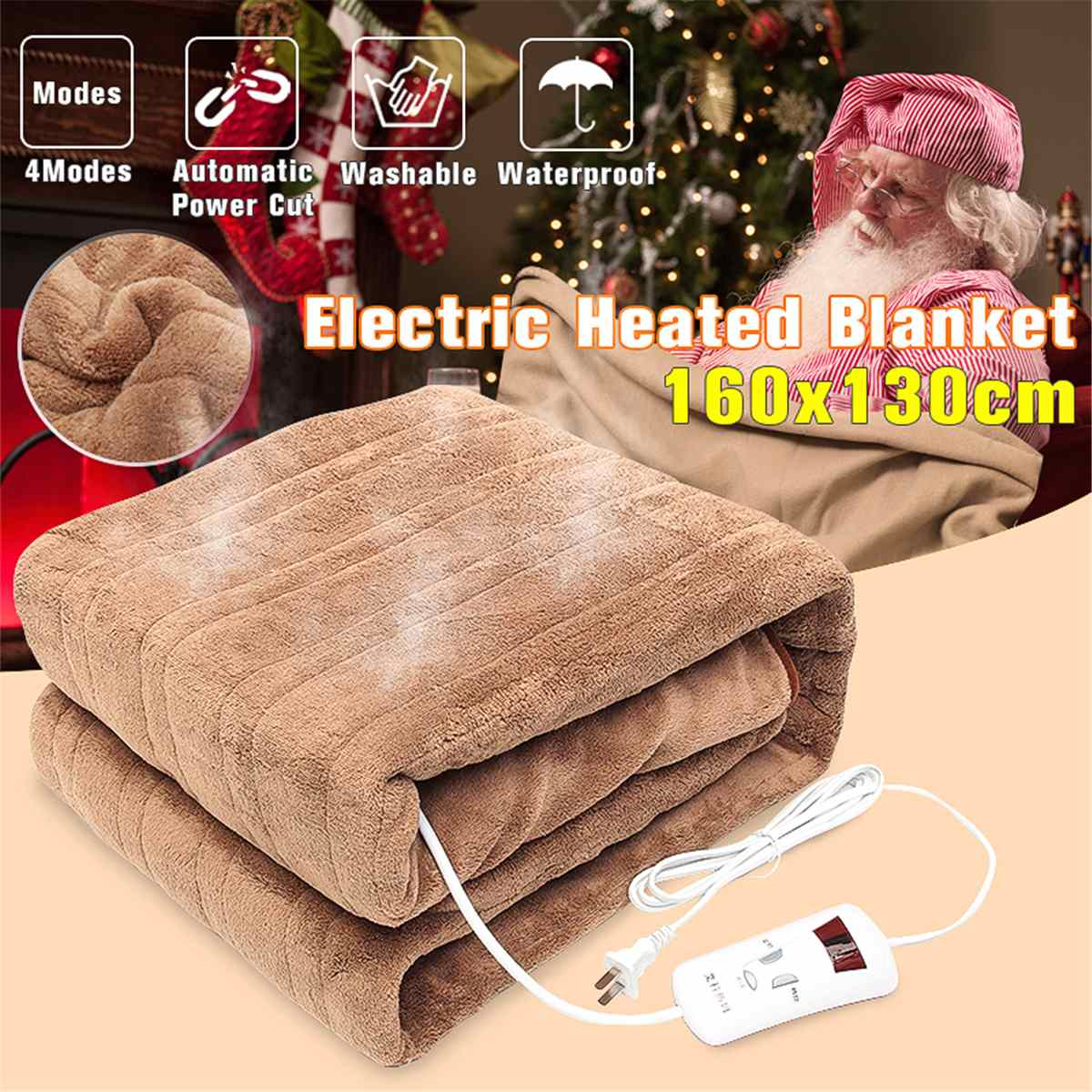 220V Waterproof Automatic Double Electric Blanlet Heated Blanket Mat Single-control Dormitory Bedroom Heating Carpet Mat220V Waterproof Automatic Double Electric Blanlet Heated Blanket Mat Single-control Dormitory Bedroom Heating Carpet Mat