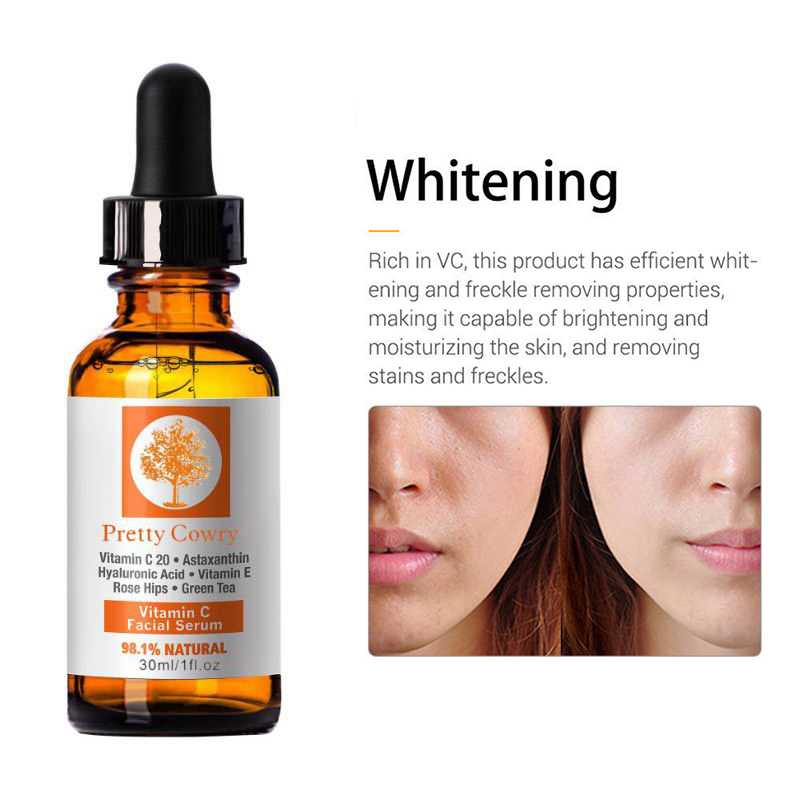 30ml Vitamin C Essence Hyaluronic Acid Whitening Natural Face Serum Firm Soothing Repair Essence Face Skin Care TSLM1 5