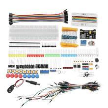 Komponenty elektroniczne Junior zestawy startowe z rezystorem zasilanie płytki prototypowej moduł zasilający dla Arduino z plastikowym pudełkiem