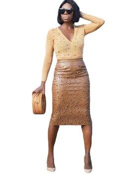 Plus Size Leather Pencil Fashion Skirt 2