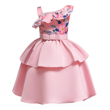 Dress Kids Dresses For Girls Sleeveless Printing Summer Fashion Princess Costume Children Clothes Set Free Shipping стоимость