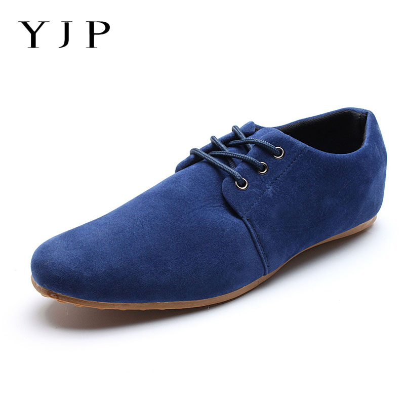 YJP Large Size Men Oxford Shoes Faux   Suede     Leather   Business Oxfords Flats Casual Shoes Soft Sole Spring Summer Man Driving Flats