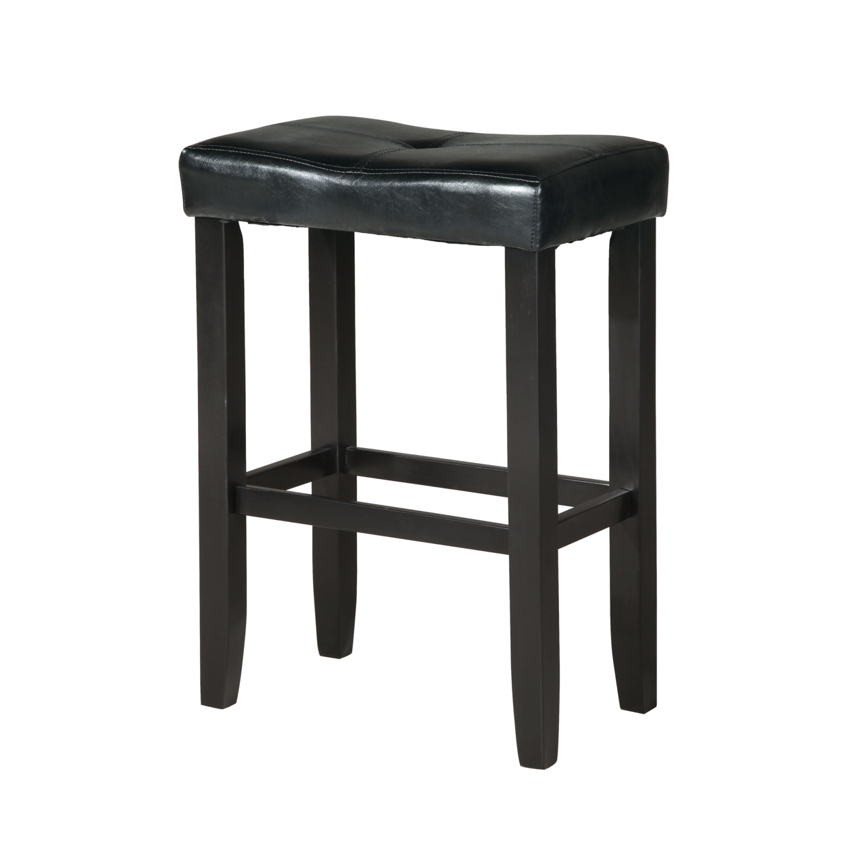 Wooden Counter Height Stool Set Of 2 Black In Step