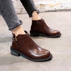 Лаконичные однотонные Прошитые женские ботинки «Челси» с низким круглым носком на молнии, винтажные мотоциклетные ботинки, ботильоны на