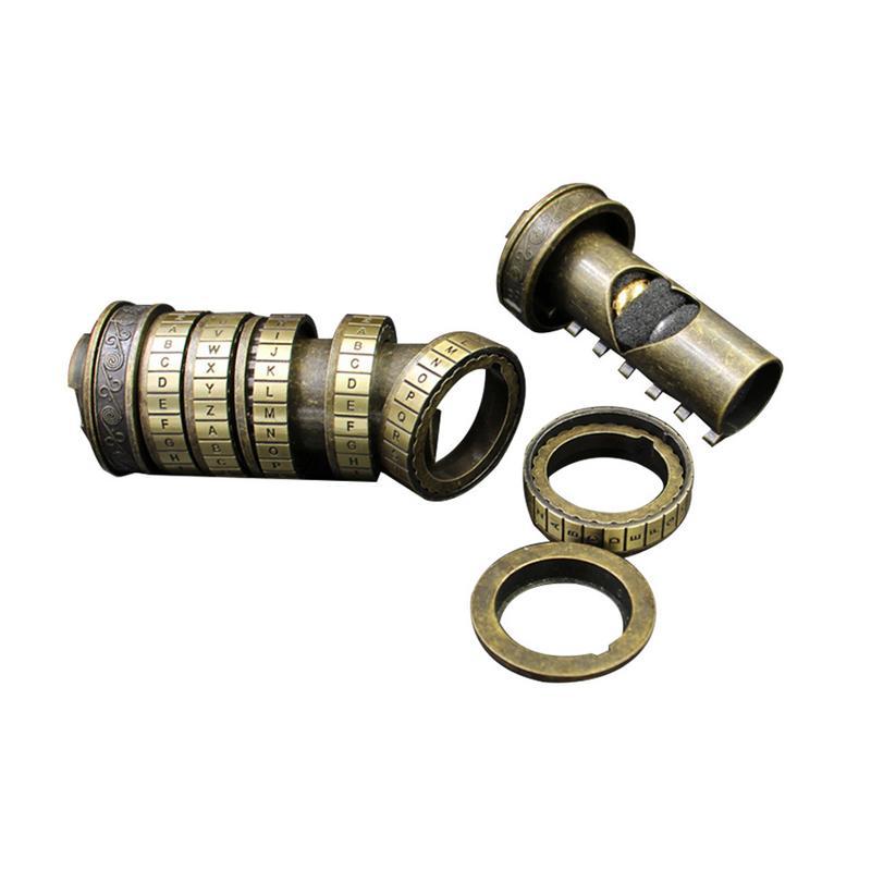 Da Vinci mot de passe serrure jouet éducatif décryptage Code Mini Cryptex intéressant innovant romantique anniversaire cadeaux de noël - 4