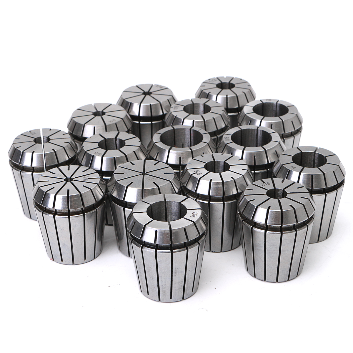 Drillpro 15Pcs 1/8 to 1 Inch ER40 Spring Collet Set for CNC Milling Lathe Tool for Alloy Spring Steel Milling Lathe 1pcs er 40 er40 over size spring collet clamping tool drill chuck arbors for cnc milling lathe tool milling cutter din 6499b