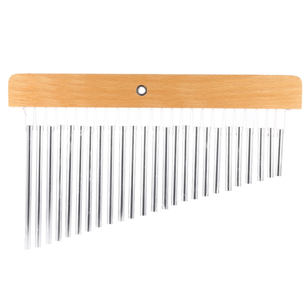 FSTE 25 Tone Bar Chimes Durable 25 Bars Single Row Musical Percussion Instrument Suitable For Enhancing