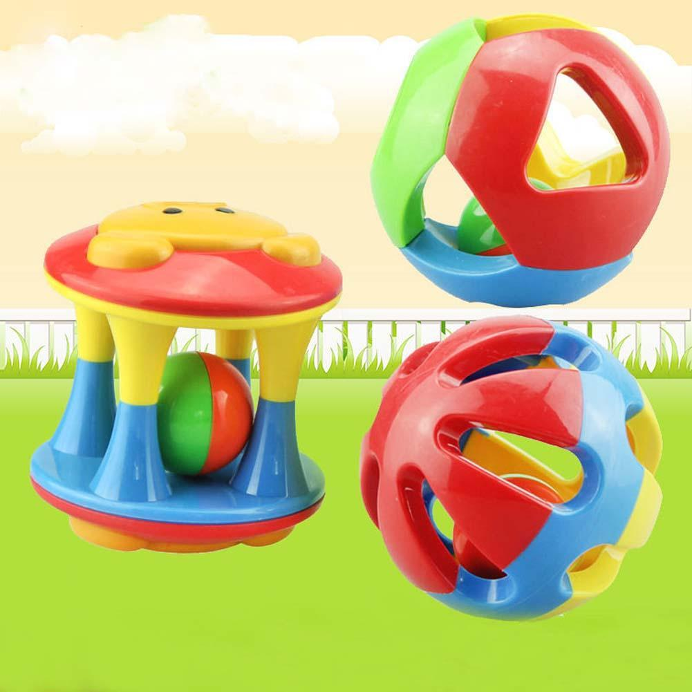 3 Styles Hand Shake Bell Ring Lovely Funny Baby Rattles Plastic Music Novelty Early Learning Educational Toys Rattles Baby