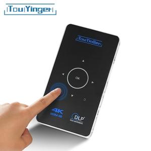 Image 1 - תמיכת 4K 1080P מלא HD וידאו נייד מיני dlp מקרן wifi Airplay 2GB RAM אנדרואיד Touyinger S9 HDMI USB Bluetooth Miracast