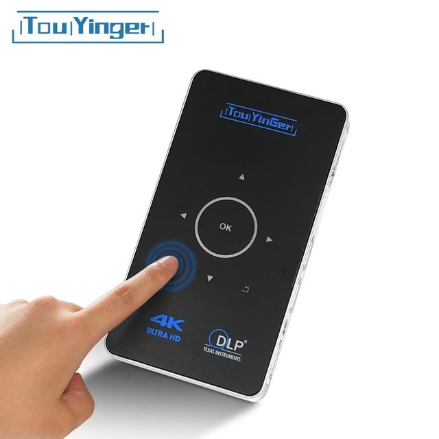 תמיכת 4K 1080P מלא HD וידאו נייד מיני dlp מקרן wifi Airplay 2GB RAM אנדרואיד Touyinger S9 HDMI USB Bluetooth Miracast