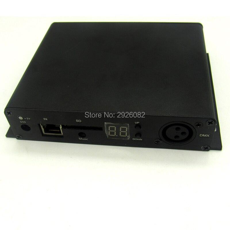 Cartão SD DMX LED pixel controlador de iluminação, 8 portas de saída DMX Controlador (on line/off line/wifi/tempo/DMX/ cinco em um), a 8 DMX - 5