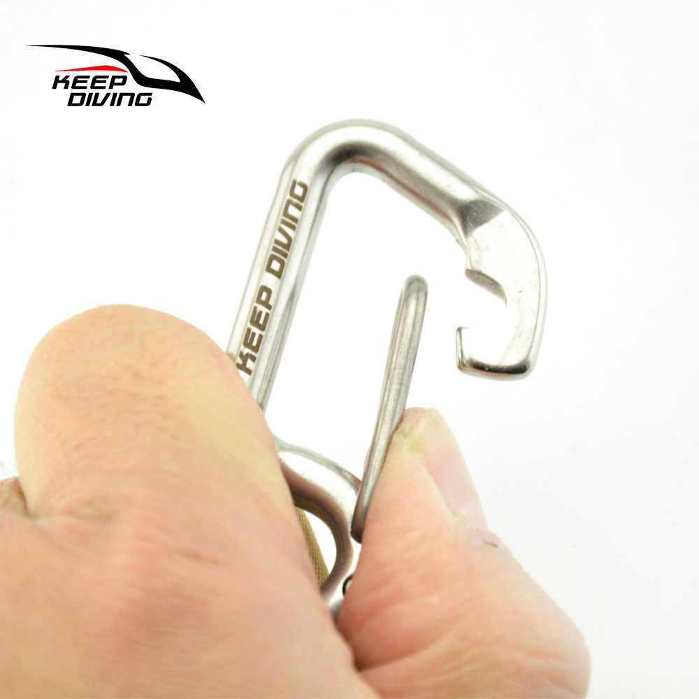 Clip Mini Keychain Hanging Hook Metal Carabiner Key Chain Ring Release Buckle