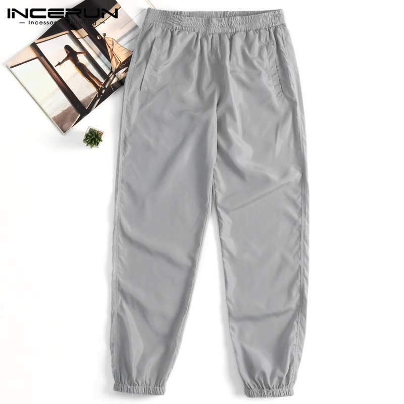 Men's Sweatpants Joggers Waterproof Elastic Waist Gyms Casual Pants Trousers Men Loose Workout Classic Track Pants S-5XL INCERUN