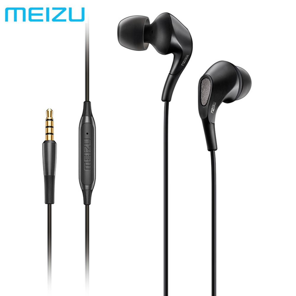 MEIZU Flow Three Hybrid Units In-ear HiFi Earphones 3.5mm Earbuds With Mic Noise Cancelling Headset support Voice Control original awei es q3 headset noise isolation bests sound in ear style hifi earphones for phone mp3 mp4 players 3 5mm jack
