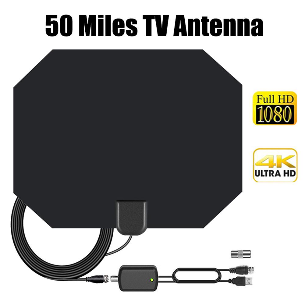 ATSC ISDB DVB T HD Digital TV Antenna Long 80 Miles Range Support 4K 1080P HDTV Amplifier Signal Booster Antenna in TV Antenna from Consumer Electronics