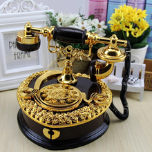 Retro Telephone Music Box Happy Creative Gift Gifts For Kids Musical Boxes Boxs Decorations For Home Ornaments Deocr retro telephone style musical box toy coffee gold