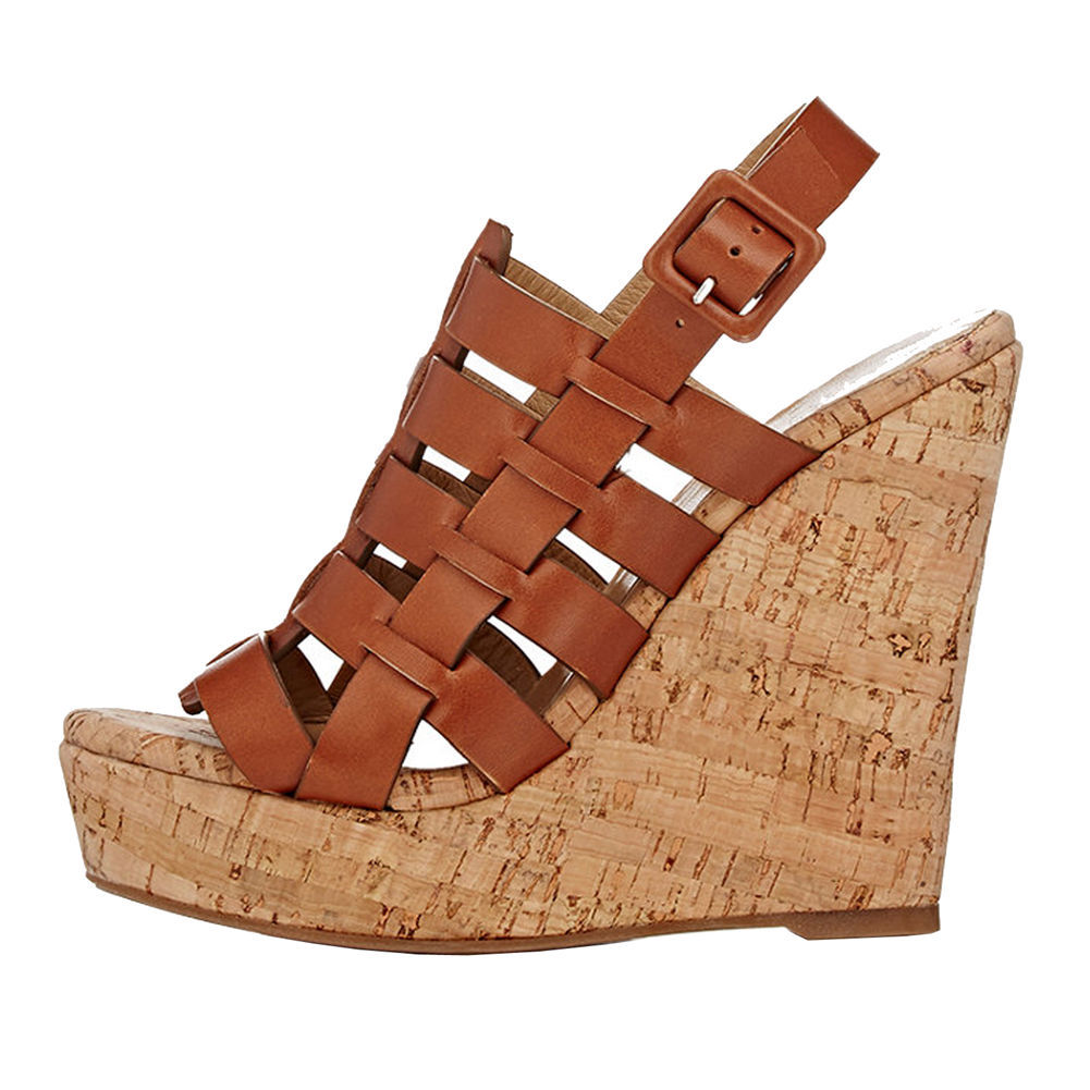 Moraima Snc 2019 The New Fashion Sandals April Woman High Platform Solid Black/brown Rome Style Wedges High Heels Casual ShoesMoraima Snc 2019 The New Fashion Sandals April Woman High Platform Solid Black/brown Rome Style Wedges High Heels Casual Shoes
