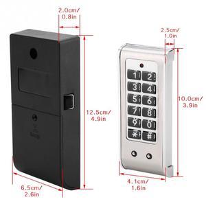 Image 5 - สแตนเลสสตีลอิเล็กทรอนิกส์รหัสผ่านล็อคชั่วคราวรหัสผ่านลิ้นชักล็อคสำหรับตลาดโรงแรมบริษัทโรงงาน Security