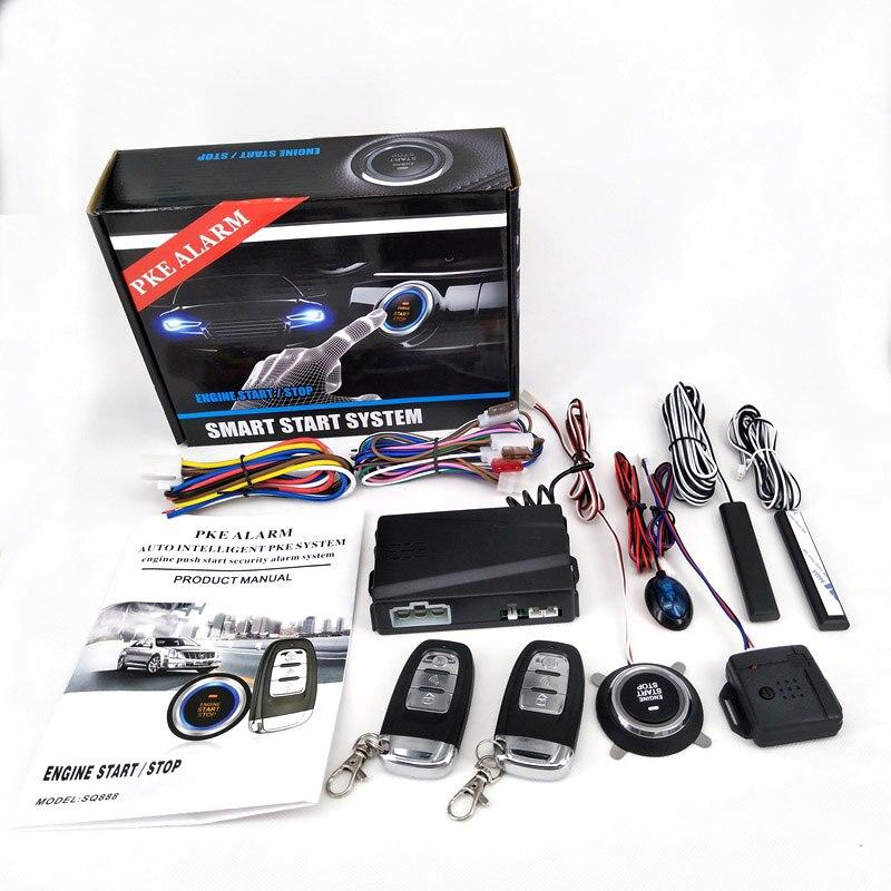 PKE alarme de voiture passif sans clé un bouton de démarrage système de contrôle à distance verrouillage Central automatique bouton poussoir de démarrage arrêt CHADWICK 888X1